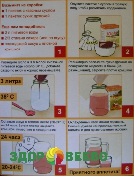 Домашний квас из сусла рецепт на 3 литра