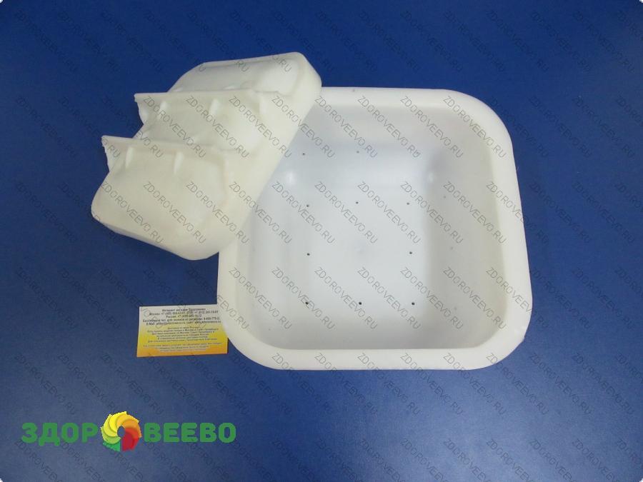 Натуральные средства по уходу за телом Сыроделие Формыдля сыра - с крышкой, под пресс: Форма для сыра на 4 кг, квадратная, под пресс